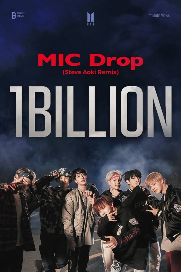방탄소년단이 또 하나의 기록을 추가했다. 지난 2017년 공개된 MIC Drop 리믹스 뮤직비디오가 26일 유튜브 조회 수 10억 뷰를 달성했다. /빅히트 뮤직 제공