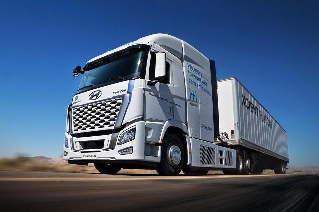 현대차, 엑시언트 수소전기 대형트럭 북미시장 진출