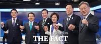 민주당 대권주자 첫 토론…'이명박·박근혜 사면' 전원 '찬성 아냐'[TF사진관]