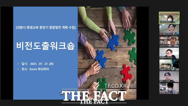 의왕시가 평생교육 중장기 종합발전계획 수립을 위한'비전 도출 워크숍'을 온라인으로 개최했다./의왕시 제공