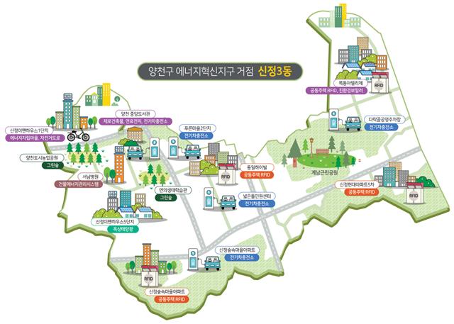 양천구 에너지혁신지구 거점인 신정3동 지도. /서울시 제공