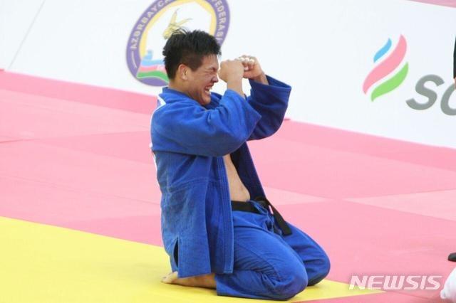 조구함이 2020 도쿄올림픽 남자 100kg급 8강전에서 칼리하르트 프레이를 꺾고 준결승에 진출했다. 사진은 2018 세계유도선수권대회 당시 모습. /뉴시스