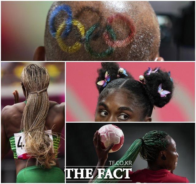 1일 일본 도쿄에서 2020년 도쿄올림픽이 열리고 있는 가운데 각 종목 선수들의 개성있는 헤어스타일이 눈에 띈다. /도쿄=AP.뉴시스