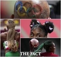 개성만점 헤어스타일 '나만의 올림픽 연출법' [TF사진관]