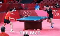 남자탁구, 단체전 준결승서 중국에 완패…결승 진출 좌절