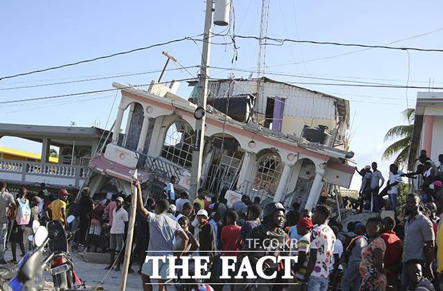 규모 7.2의 지진이 발생한 아이티.