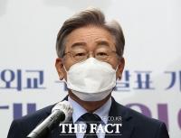 통일외교 구상 밝힌 이재명…한반도 평화, 최우선 과제는 '북핵' [TF사진관]