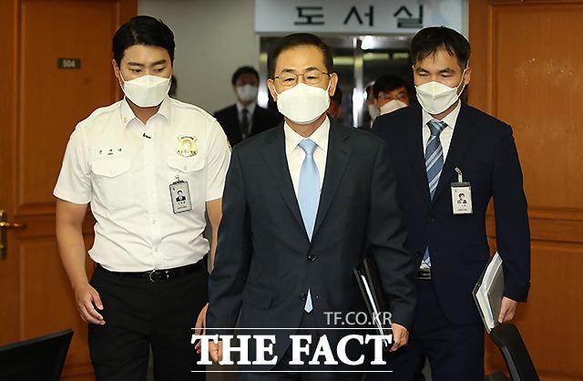 4.15 총선 무효소송 검증기일에 참석하는 조재연 대법관.