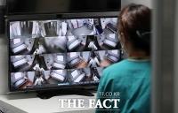 코로나19 병상 실시간 모니터링 하는 의료진 [포토]