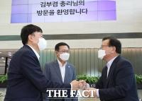 존림 삼성바이오로직스 사장과 인사하는 김부겸 총리 [포토]