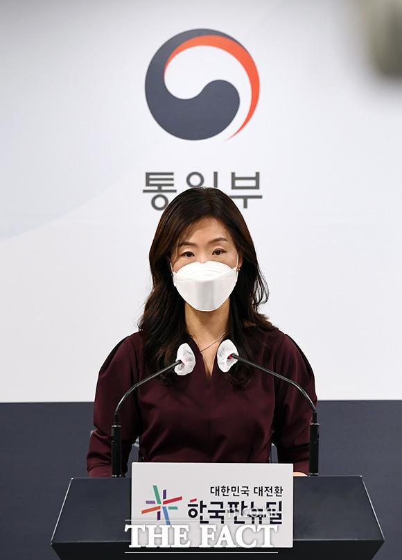 이종주 통일부 대변인이 6일 오전 서울 종로구 정부서울청사 합동브리핑실에서 정례브리핑을 하고 있다./임영무 기자