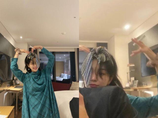 권민아가 남자친구와 호텔 객실에서 흡연하는 사진을 올려 논란에 휩싸였다. /권민아 SNS 캡처