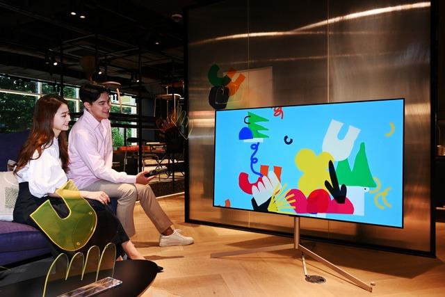 LG전자, 홈 라이프스타일 스크린 전시…프리미엄 마케팅 강화