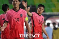 '월드컵 최종예선 첫 승' 벤투호 구해낸 권창훈 [TF사진관]