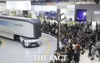 '수소 산업의 미래를 한 눈에' 2021수소모빌리티쇼 개막 [TF사진관]