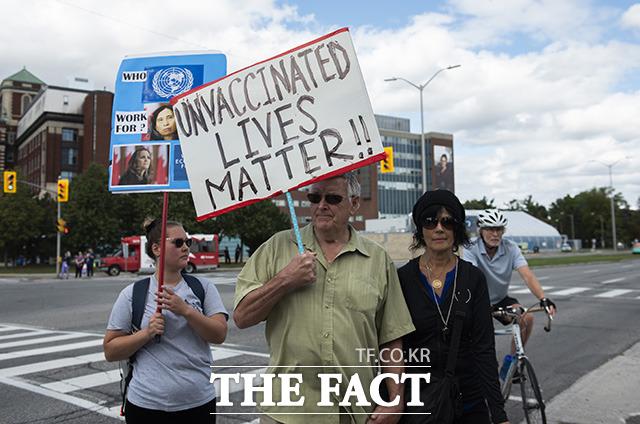 오타와 등 여러곳에서 시위하는 캐나다인들.
