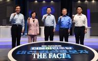 100분 토론 나선 더불어민주당 5인의 대선 예비후보 [TF사진관]