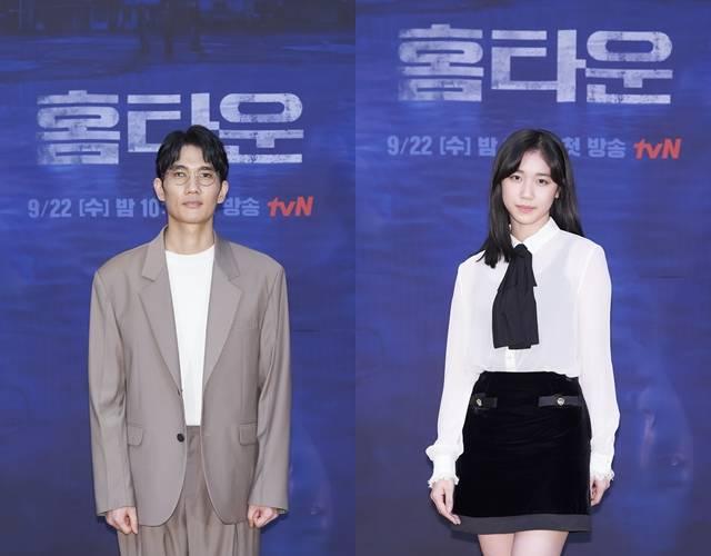 엄태구(왼쪽)과 이레는 부녀로 등장하지만 한번도 같이 촬영한 적 없다고 밝혀 작품에 대한 궁금증을 높였다. /tvN 제공