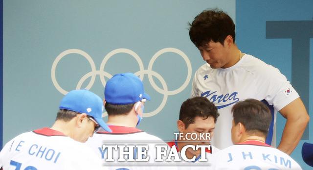 야구 동메달 결정전에서 도미니카공화국과 대한민국의 경기에서 10-6으로 역전패해 4위를 차지한 야구 대표팀.