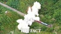 북한, 열차서 탄도미사일 발사 성공…다양한 발사 수단 과시 [TF사진관]