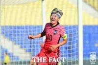 '차범근 넘었다!' 지소연 한국축구 A매치 최다골 기록 경신...몽골전 '대승'