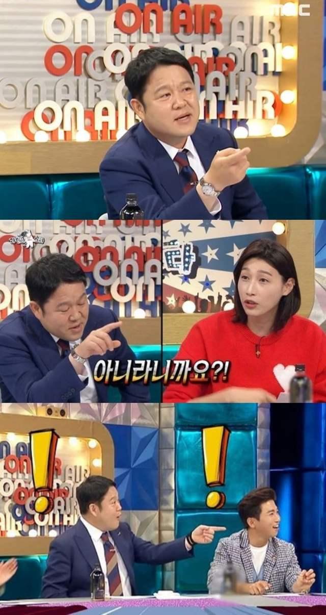 방송인 김구라가 MBC 예능프로그램 라디오스타를 통해 또다시 방송 태도 논란에 휩싸였다. /MBC 방송화면 캡처