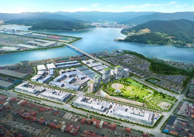 DL이앤씨가 부산항만공사가 발주한 부산항 신항 북 컨테이너 2단계 항만배후단지 조성사업의 실시설계 적격자로 선정됐다고 23일 밝혔다. /DL이앤씨 제공