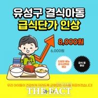 대전 유성구, 결식아동 급식 단가 8000원으로 인상