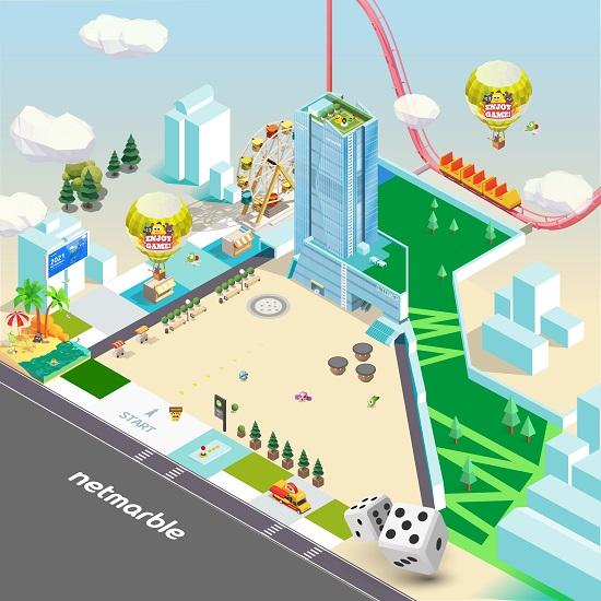 메타버스 온라인 채용 박람회인 넷마블 타운 모습 /넷마블 제공