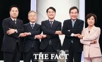 부울경 토론회 앞두고 '손잡은 민주당 대선 주자들' [TF사진관]