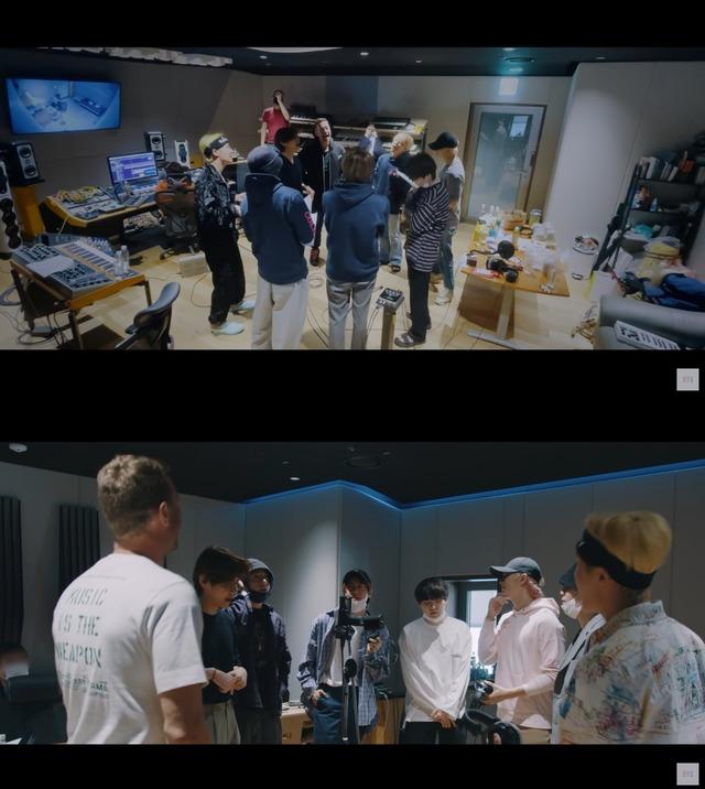 방탄소년단이 콜드플레이와 협업 곡 녹음 과정을 공개했다. /빅히트 뮤직 제공