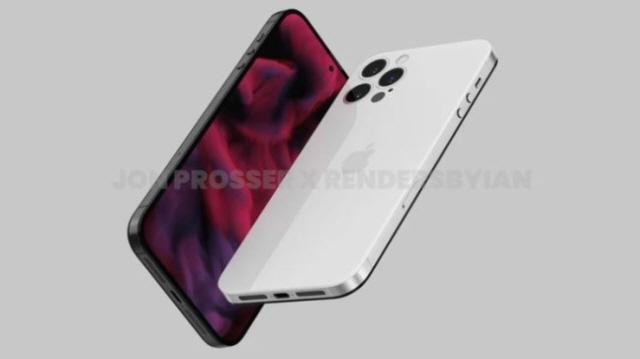 내년 출시 예정인 아이폰14 시리즈의 디자인이 확 바뀔 것이란 전망이 나왔다. 아이폰14 렌더링 이미지. /존 프로서