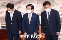 '언론중재법' 본회의 처리 난항…여야 원내대표, 막판 협상 시도 [TF사진관]