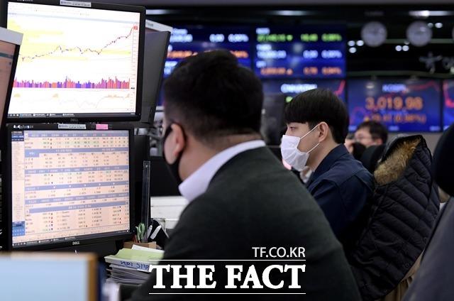 [시황] 외국인·기관 매도 행렬…코스피, 3060.27 마감