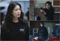 '해피니스' 한효주 스틸컷 공개, 경찰특공대 에이스로 변신