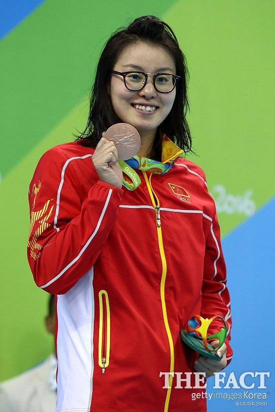 유쾌한 인터뷰! 푸위안후이가 여자 배영 100m 준결선을 마치고 한 인터뷰는 많은 이에게 웃음과 감동을 안겼다. / 게티이미지