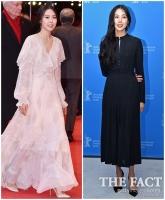 [TF포토] 김민희 '당당한 스타일, 애교 넘치는 웃음'