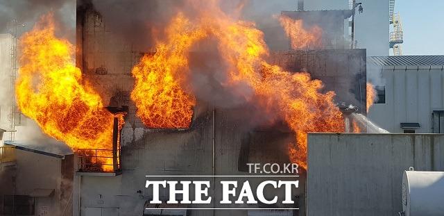 지난 2년 간 총 21건의 ESS 화재 사태가 발생하며 정부가 올해 1월부터 사고 원인 조사에 들어갔으나 명확한 해답을 내놓지 못하고 있다. 사진은 올해 1월 울산시 남구 성암동 대성산업가스 울산공장에서 ESS배터리 설비에서 화재가 발생한 모습. /뉴시스