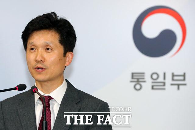이상민 통일부 대변인이 28일 정부서울청사에서 브리핑을 통해 북한에 금강산 관광 시설 철거 관련 실무회담을 제안하는 대북통지문을 발송했다고 밝혔다. /뉴시스