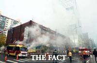 서초동 진흥상가 화재...소방관 등 12명 부상