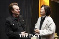 공연장 찾은 김정숙 여사 만난 U2, 文대통령 만난다