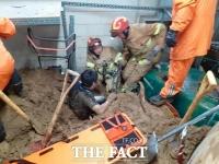 용인 골프장 장비실 산사태로 매몰 사고 발생…직원 3명 구조