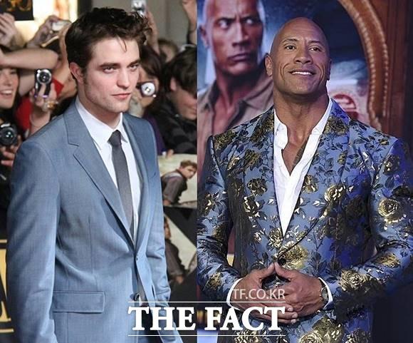 할리우스 배우 로버트 패틴슨(왼쪽)과 드웨인 존슨이 코로나19 확진 판정을 받았다. /뉴시스