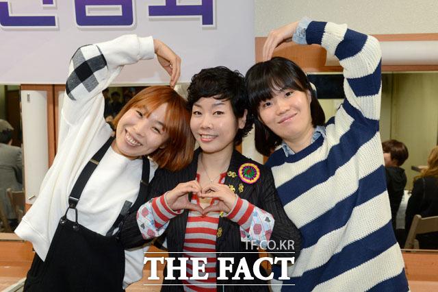 2013년도 개그콘서트에 특별 출연한 김미화와 오나미, 박지선의 모습. /뉴시스