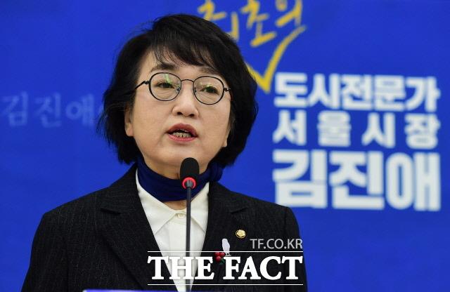 김 의원은 최근 상임위를 당초 희망했던 국토위로 옮겨 활동했다. 또 서울시장 재보궐 선거 출마 의지를 밝히기도 했다. 지난달 27일 국회에서 서울시장 보궐선거 출마보고 기자회견하는 모습. /국회사진취재단