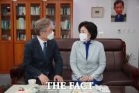 국회서 이재명 만난 박영선