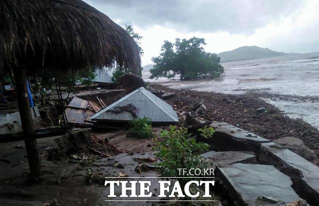 인도네시아 동부 누사 텡가라 주의 홍수와 산사태 피해 현장.