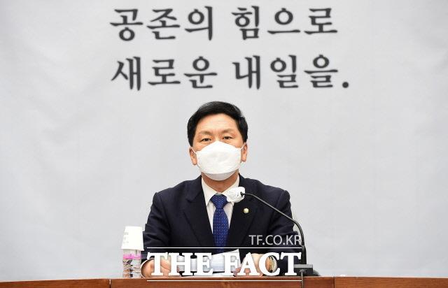 김기현 국민의힘 원내대표는 더불어민주당을 향해 애초에 법사위원장자리를 차지할 아무런 권리가 없다고 지적했다. /국회사진취재단