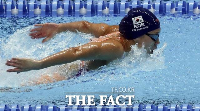 김서영(27·경북도청)이 도쿄올림픽 여자 개인혼영 200m 준결선에서 12위를 기록하며 올림픽을 마감했다./뉴시스
