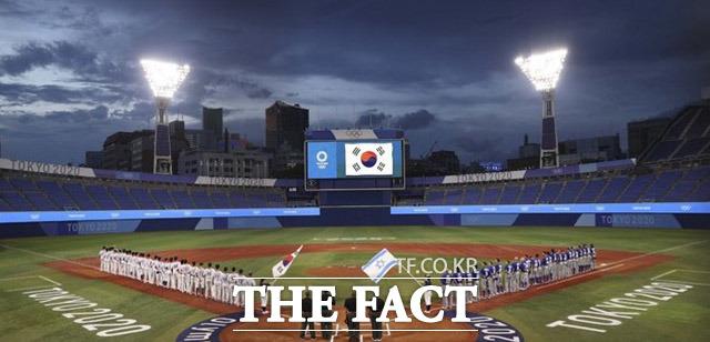 2020 도쿄올림픽 야구 B조 조별리그 1차전 대한민국과 이스라엘의 경기가 열린 일본 요코하마 스타디움.